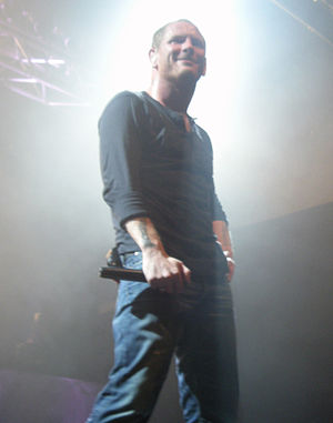 Italiano: Corey Taylor con gli Stone Sour a Tr...
