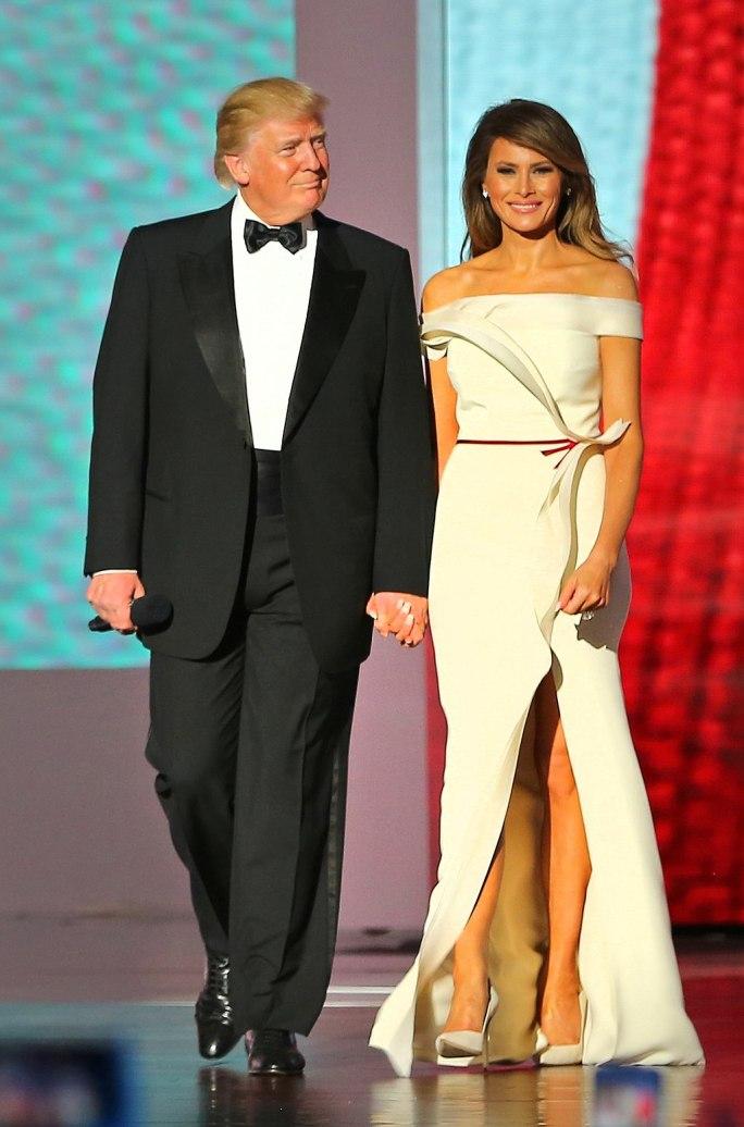Donald Trump and Melania Trump at Liberty Ball Inauguration 2017