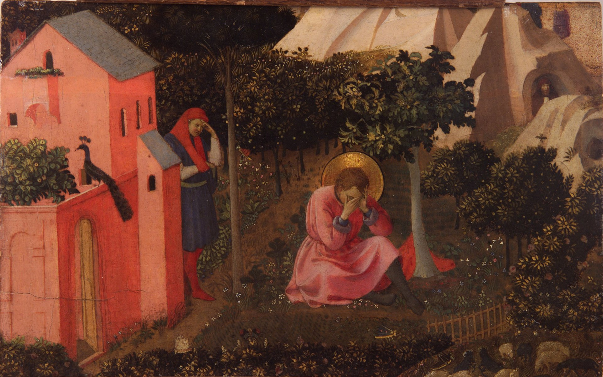 """The Conversion of St. Augustine"" by Fra Angelico,  (circa 1395–1455)"