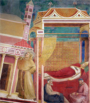 Pope Innocent III has a dream of St. Francis o...