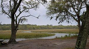 English: Inland marshes of Jekyll Island, Geor...