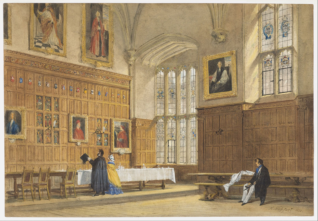 FileJoseph Nash The Elder  View of the Dining Hall in Magdalen College Oxford  Google Art