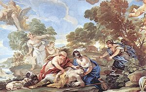 Death of Adonis, by Luca Giordano.