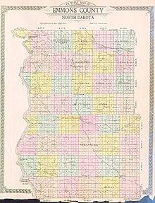 Nd Time Zone Map : Emmons, County,, North, Dakota, Wikipedia