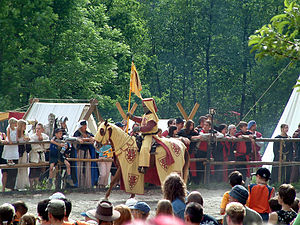 Medieval Knight to the tournament. Knight fest...