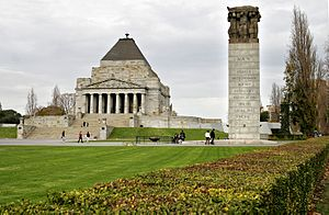 The design of the Shrine of Remembrance in Mel...