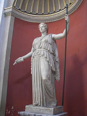 Statue of Demeter/Ceres in the round room area...