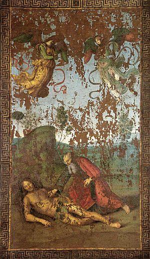 Raffaello Sanzio - The Creation of Eve from Ad...
