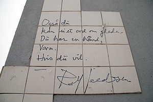 Poem written by Rolf Jacobsen located in the e...