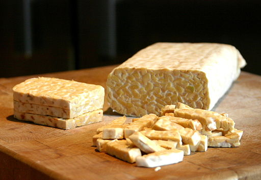 Sliced tempeh