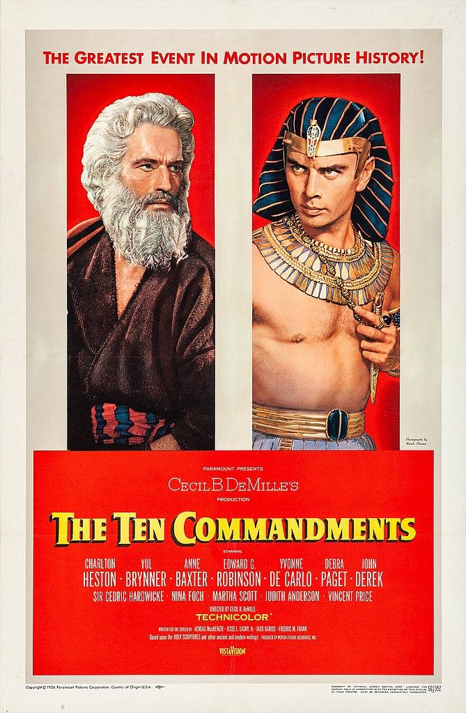 ten commandments 1956 film poster jpg
