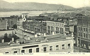 Postcard of Vancouver, British Columbia in 190...