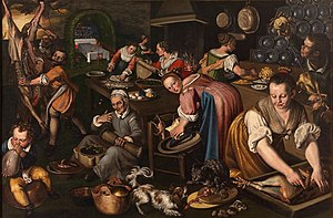 Cucina, Oil on canvas, Pinacoteca di Brera, Milan.
