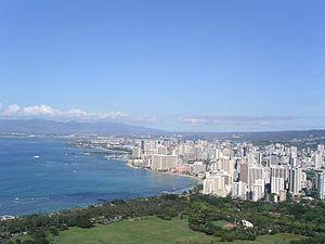 Waikiki-Strand auf Oahu/Hawaii