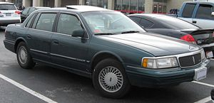 1992-1994 Lincoln Continental photographed in ...