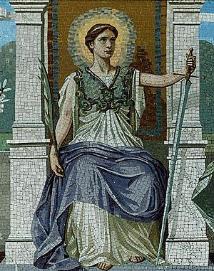 Mosaic representing both the judicial and legi...