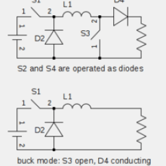 Circuit Diagram Of Buck Boost Converter 2003 Chevy Impala Engine Wikipedia Principles Operation The 4 Switch Topology Edit