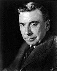 American author Booth Tarkington, head and shoulders portrait, facing left.