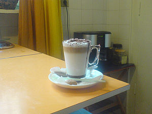a Caffè Mocha. with milk, Arabica Mocha espres...