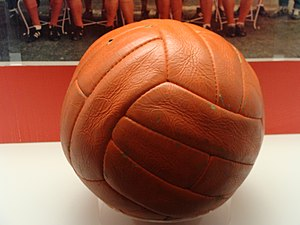 Close-up of the ball from the 1966 World Cup Final