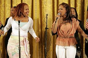 English: Sisters Erica and Tina Campbell of th...