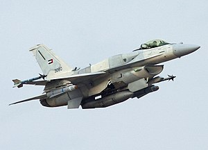 English: United Arab Emirates F-16 Block 60 ta...