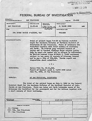 FBI synopsis of trial