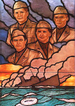 Stained glass window, U. S. Pentagon, honoring...