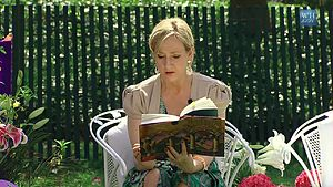 Author J.K. Rowling reads from Harry Potter an...