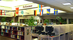 English: Fairport High School Library (Photo credit: Wikipedia)
