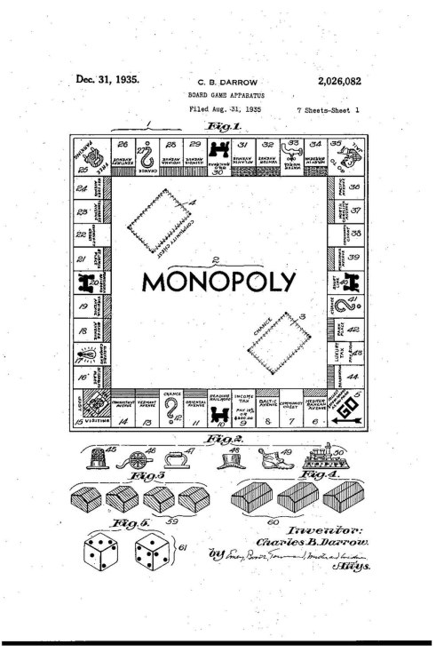 small resolution of file monopoly board game patent us2026082 pdf
