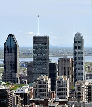 High rising buildings in Montreal, Canada