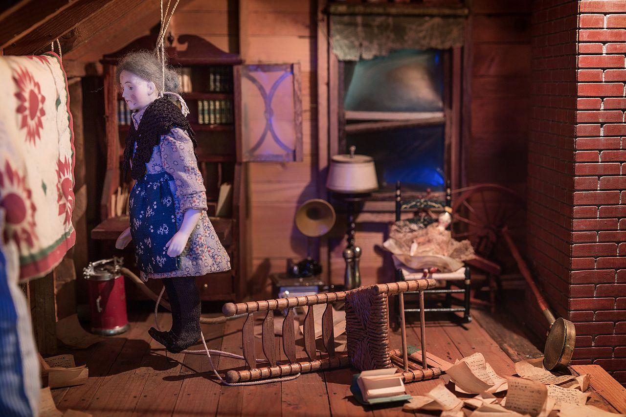 FileNutshell Studies of Unexplained Death Attic diorama