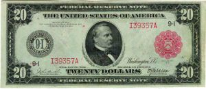Grover Cleveland - Series of 1914 $20 bill