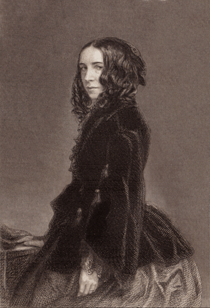 Elizabeth Barrett Browning, photographed Septe...