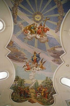 Français : Fresque dans l'Eglise de Bleialf Vi...