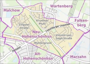 Übersichtskarte der Straßen und Plätze in Berl...