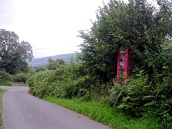 English: Bet this phone box doesn't take many ...