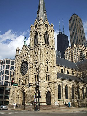 English: Holy Name Cathedral, Chicago taken by...