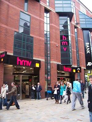HMV, The Core, Lands Lane, Leeds. Taken on the...