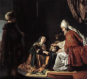 Hannah Giving Her Son Samuel to the Priest
