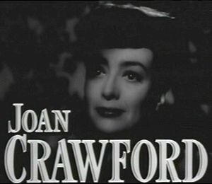 Cropped screenshot of Joan Crawford from the film Mildred Pierce