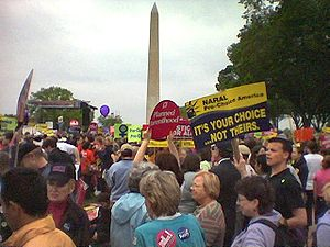 Photo from the 2004 March for Women's Lives, t...