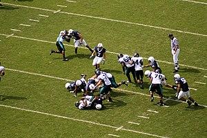 English: Penn State defense tackles the Coasta...