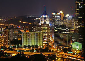 Pittsburgh Downtown at Night