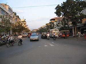 Strassenszene in Phnom Penh eigene Aufnahme