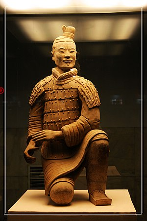A kneeling crossbowman from the Terracotta Arm...