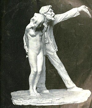 "Statue entitled ""The White Slave"""