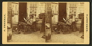 View of the Hermit in a rocking chair, by Free...