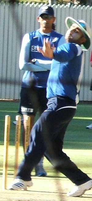Virender Sehwag bowling at Adelaide Oval